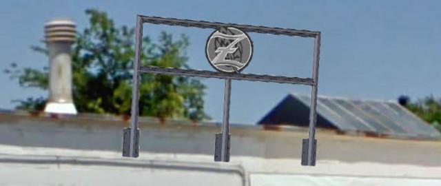 Zauber Brewery Safety Rail/ Sign Holder