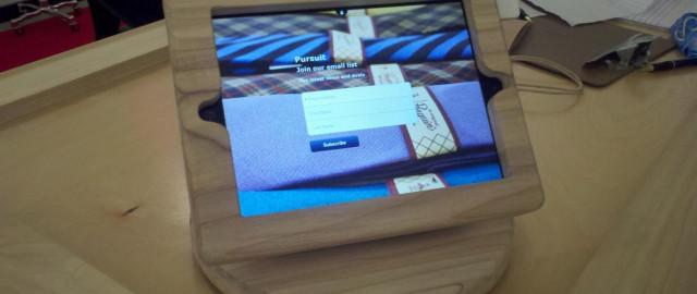 Wooden iPad Mount