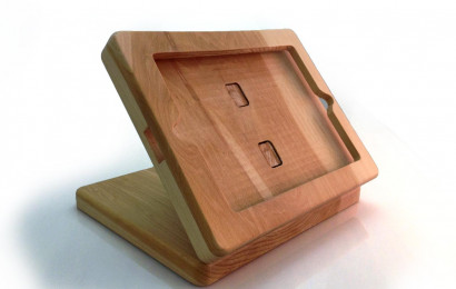 Wooden iPad Register Stand