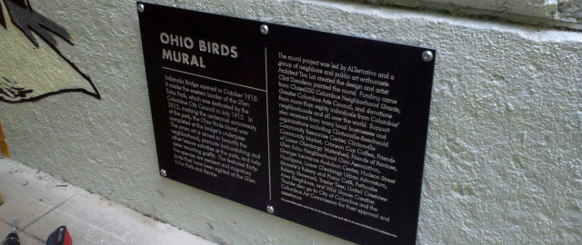 Ohio Birds Mural Sign
