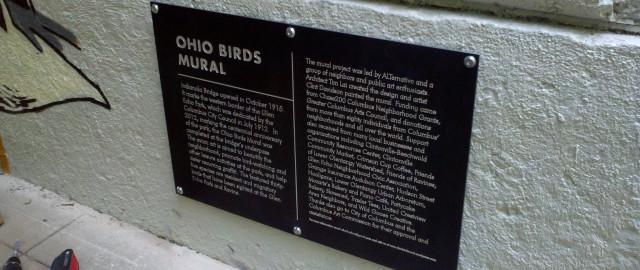 Ohio Birds Mural Sign