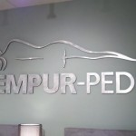Tempur-Pedic Sign finished slight right