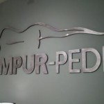 Tempur-Pedic Sign finished right close-up