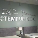 Tempur-Pedic Sign finished left
