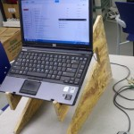 Laptop Stand Prototype Part 1in use