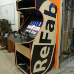 ReFab Brand Arcade Machine right side