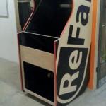 ReFab Brand Arcade Machine Part 1right side assembled