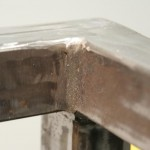 Sit/Stand desk welding frame extreme close-up_3