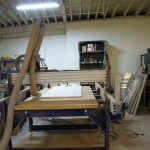 Sit/Stand Desk Shopbot CNC Router very wide