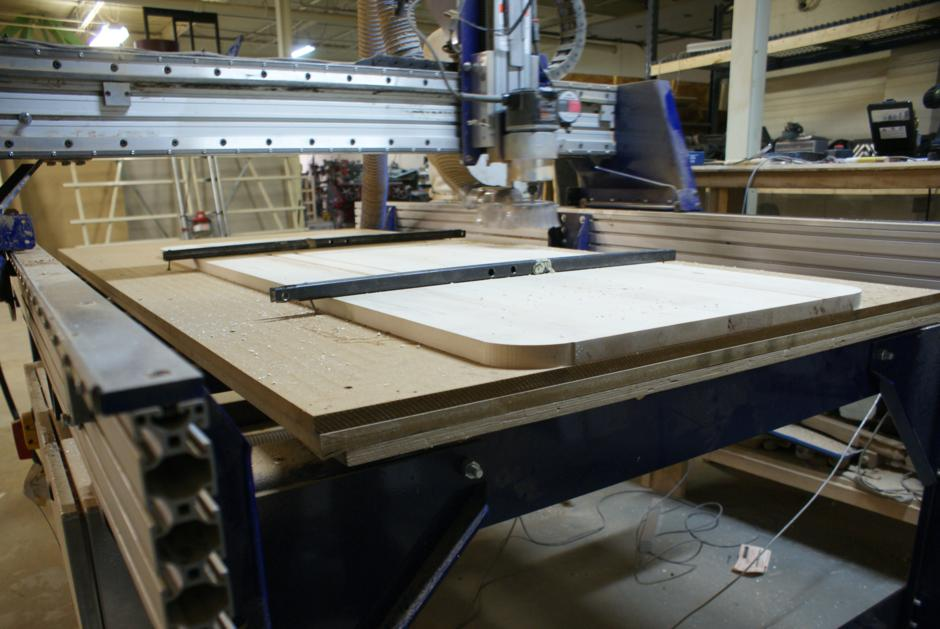 Used ShopBot CNC http://www.refabstudio.com/sitstand-desk-part-1/