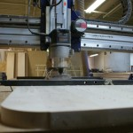 Sit/Stand Desk Shopbot CNC Router rounded corner eye level