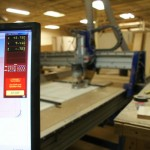 Sit/Stand desk Shopbot CNC Router monitor