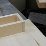 Sit/Stand desk drawer dado close