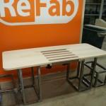 Sit/Stand desk mock-up left