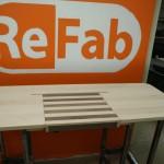Sit/Stand desk mock-up close-up drawer front