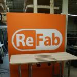 Sit/Stand desk mock-up front/left