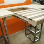 Sit/Stand desk mock-up drawer open left