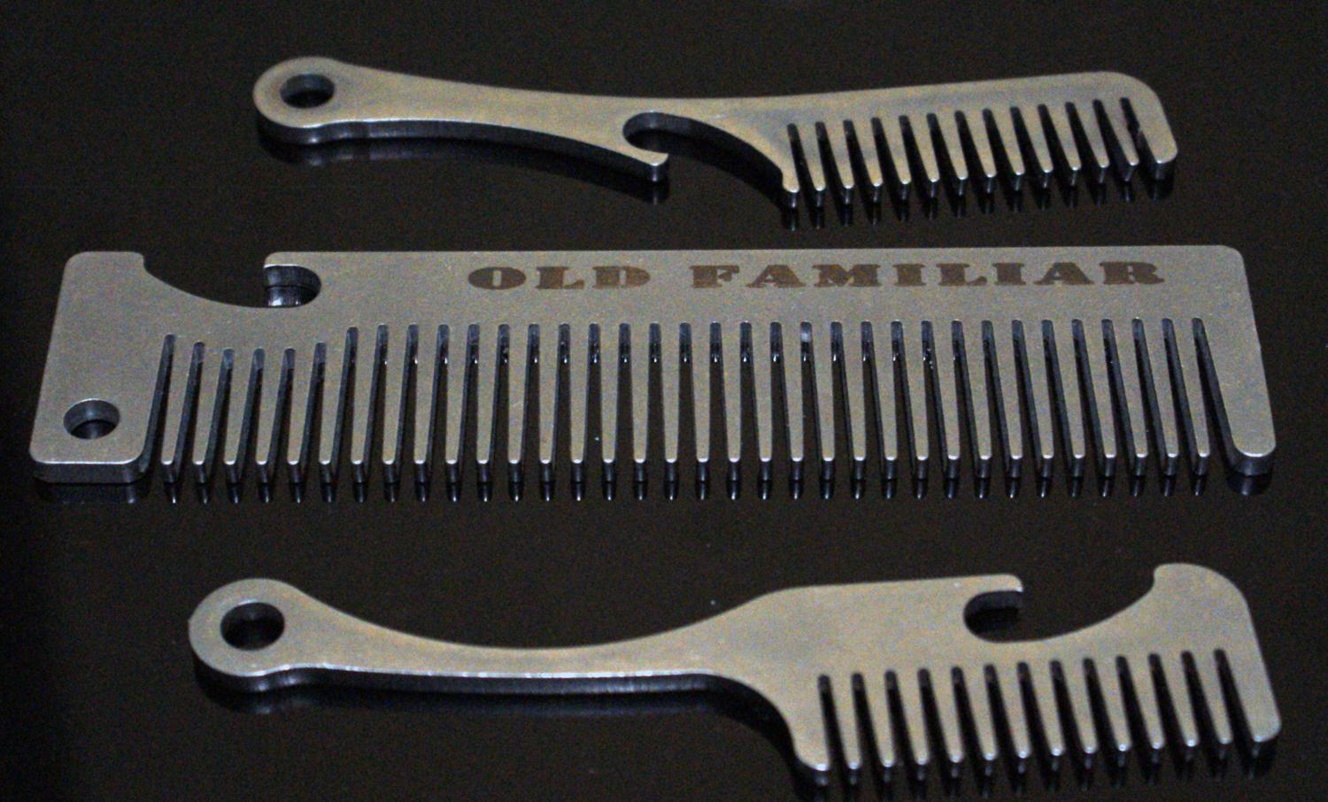 Laser Cut Stainless Comb Bottle Opener Refab Refab