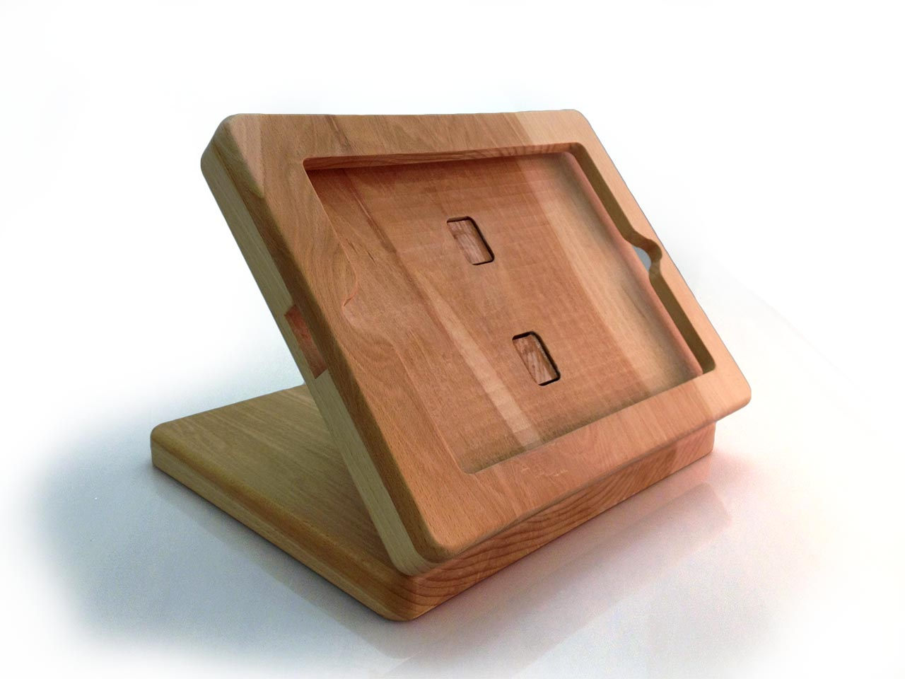 Wooden IPad Register Stand ReFab ReFab. Full resolution  picture, nominally Width 1280 Height 960 pixels, picture with #A75724.